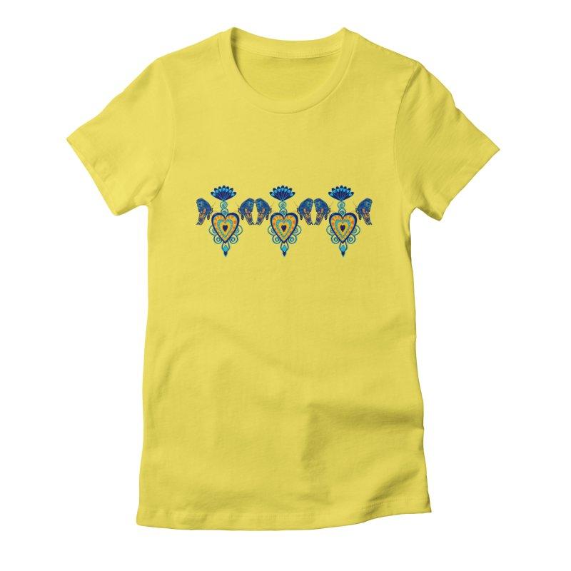 Jeweled Heart Butterflies Women's T-Shirt by jandeangelis's Artist Shop