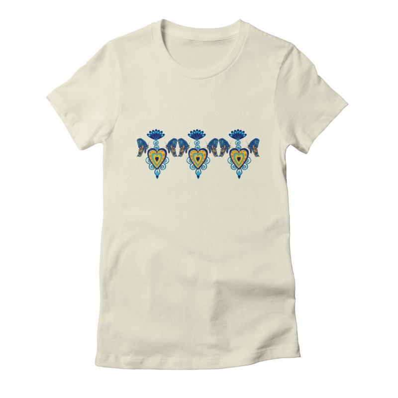 Jeweled Heart Butterflies Women's Fitted T-Shirt by jandeangelis's Artist Shop