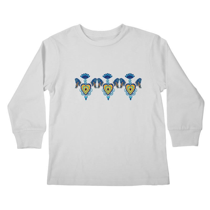 Jeweled Heart Butterflies Kids Longsleeve T-Shirt by jandeangelis's Artist Shop
