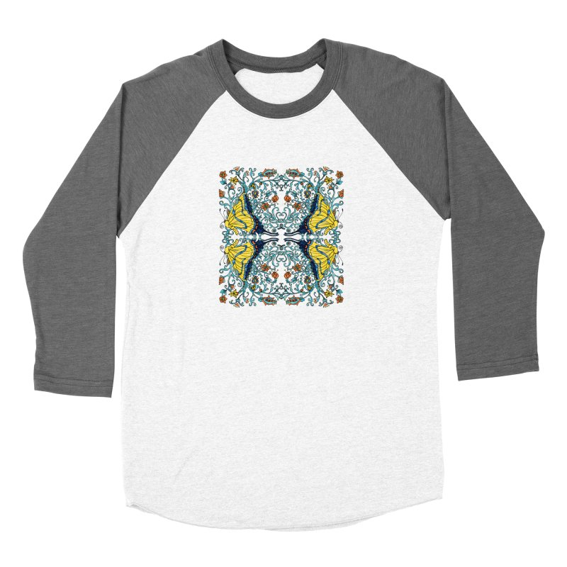 Butterflies in Vines Women's Longsleeve T-Shirt by jandeangelis's Artist Shop