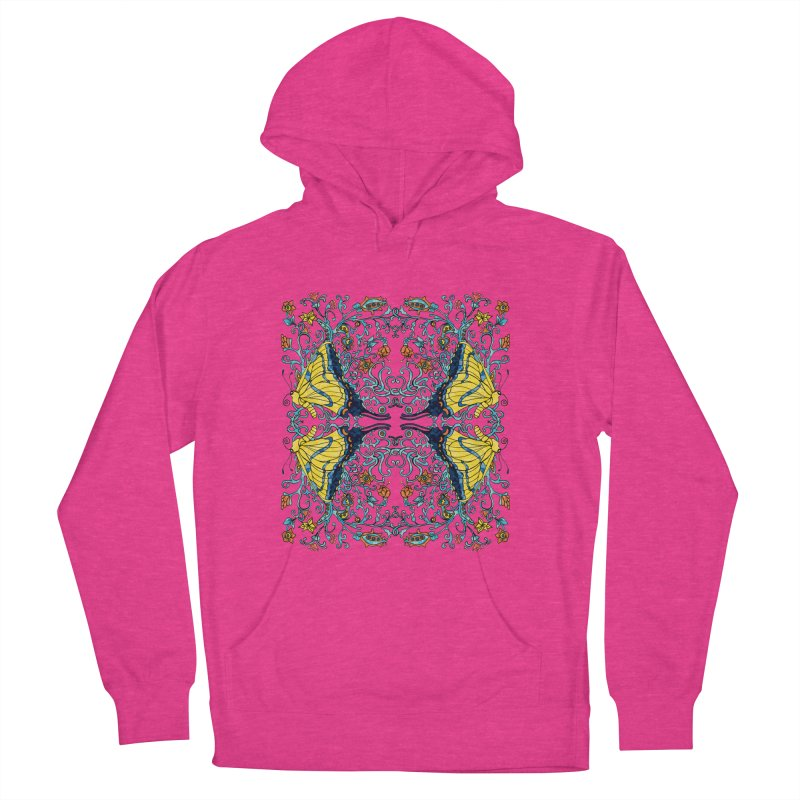 Butterflies in Vines Women's Pullover Hoody by jandeangelis's Artist Shop