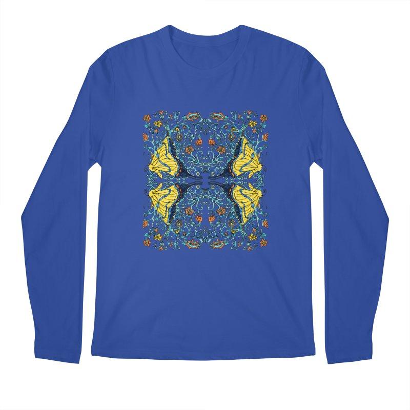 Butterflies in Vines Men's Regular Longsleeve T-Shirt by jandeangelis's Artist Shop