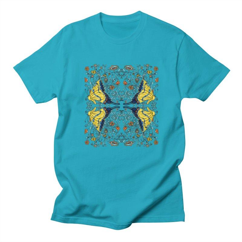 Butterflies in Vines Men's Regular T-Shirt by jandeangelis's Artist Shop