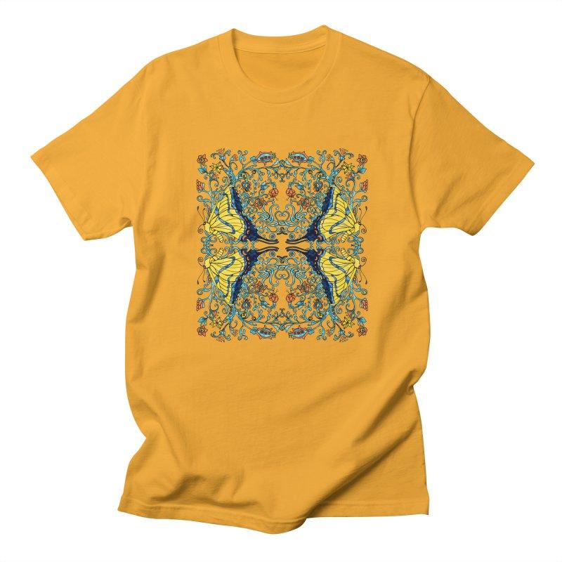 Butterflies in Vines Men's T-Shirt by jandeangelis's Artist Shop