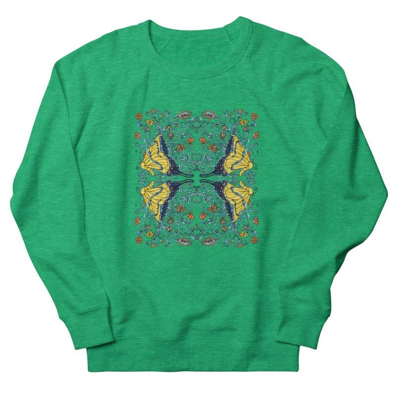 Butterflies in Vines Women's Sweatshirt by jandeangelis's Artist Shop