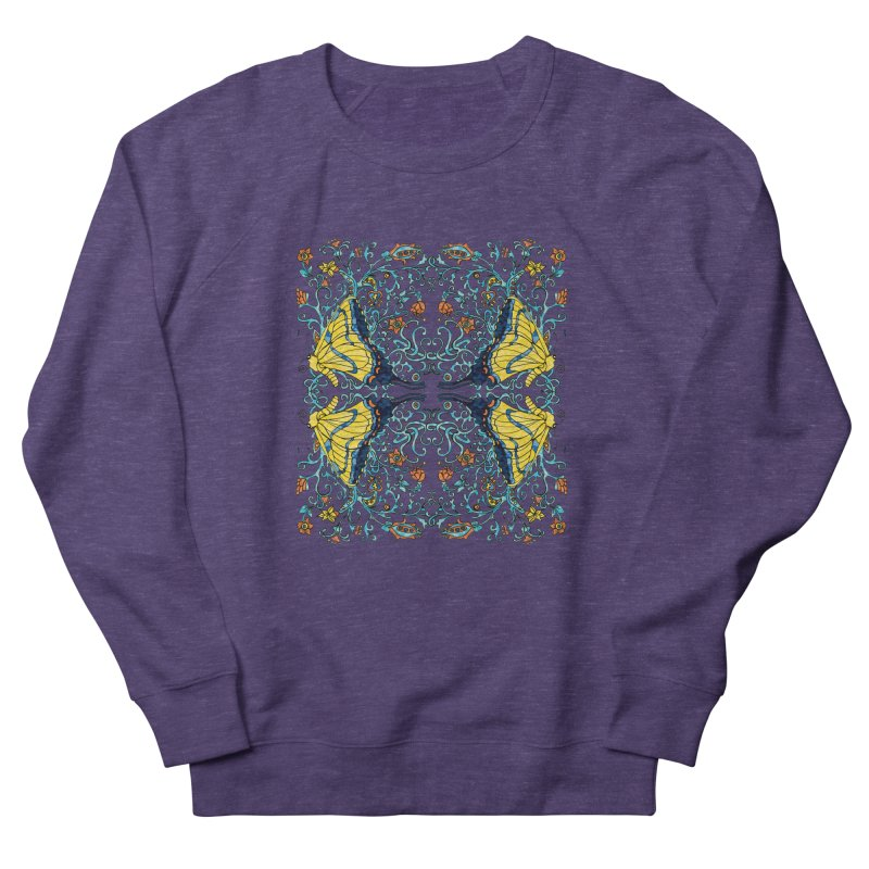 Butterflies in Vines Men's Sweatshirt by jandeangelis's Artist Shop