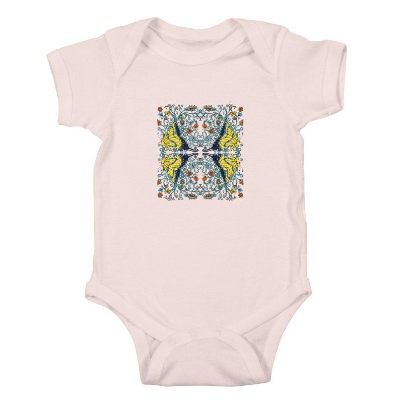 Butterflies in Vines Kids Baby Bodysuit by jandeangelis's Artist Shop