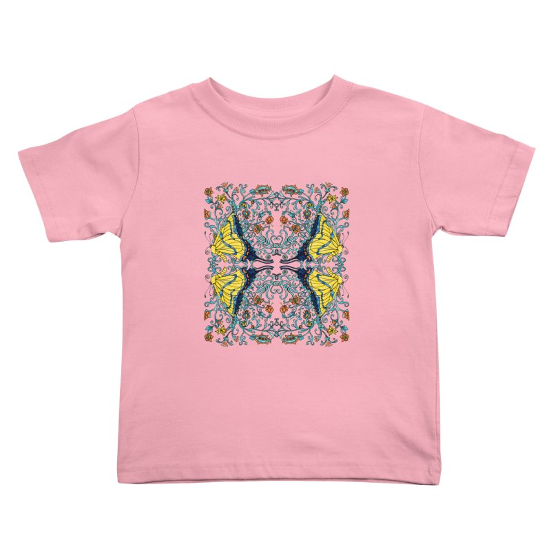 Butterflies in Vines Kids Toddler T-Shirt by jandeangelis's Artist Shop