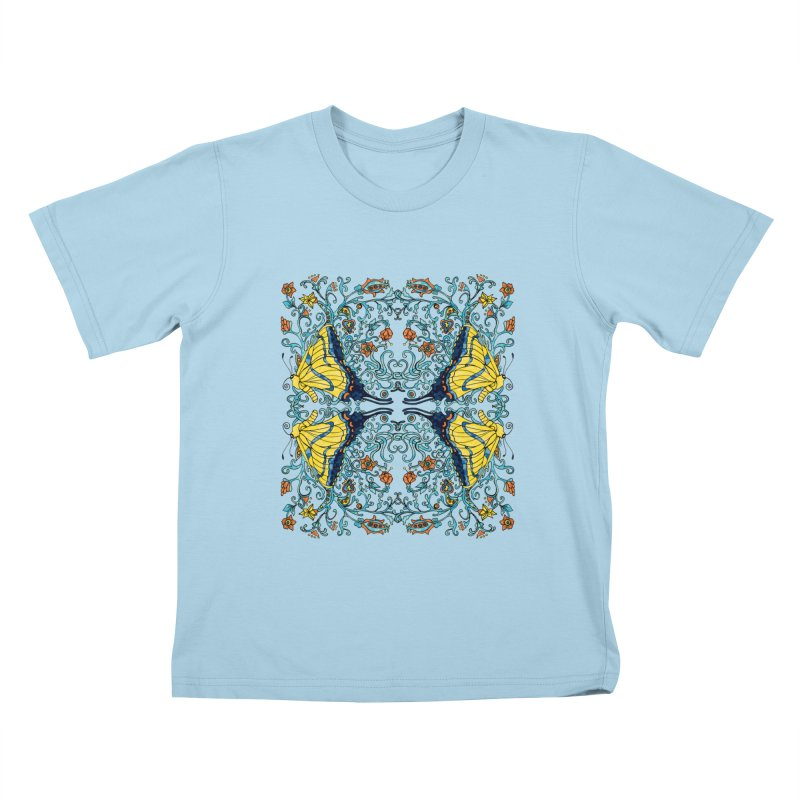 Butterflies in Vines Kids T-shirt by jandeangelis's Artist Shop
