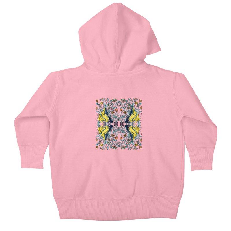Butterflies in Vines Kids Baby Zip-Up Hoody by jandeangelis's Artist Shop