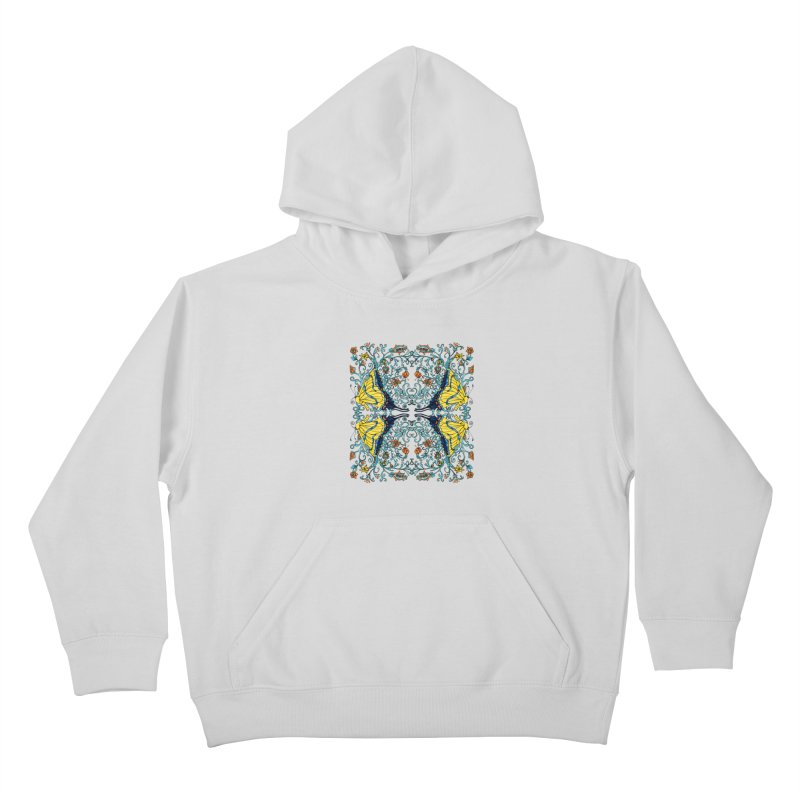 Butterflies in Vines Kids Pullover Hoody by jandeangelis's Artist Shop