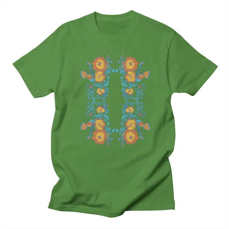 Butterfly Flowers and Bees Men's T-Shirt by jandeangelis's Artist Shop