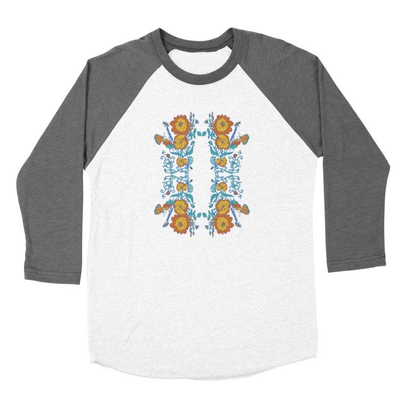 Butterfly Flowers and Bees Women's Longsleeve T-Shirt by jandeangelis's Artist Shop