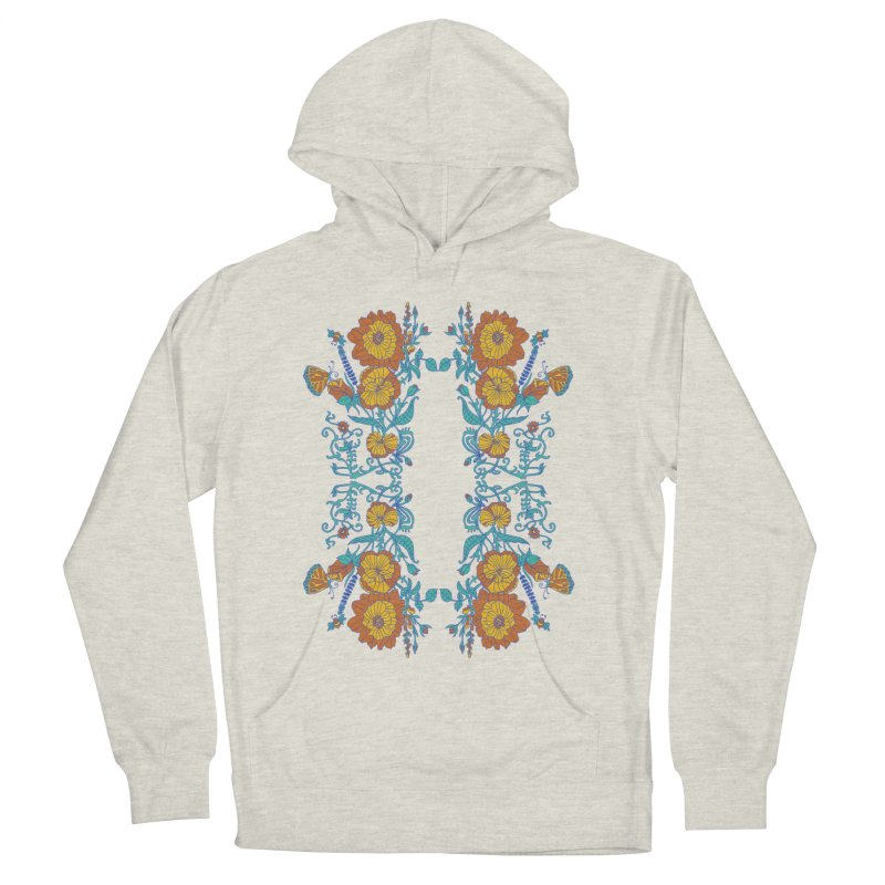 Butterfly Flowers and Bees Women's French Terry Pullover Hoody by jandeangelis's Artist Shop