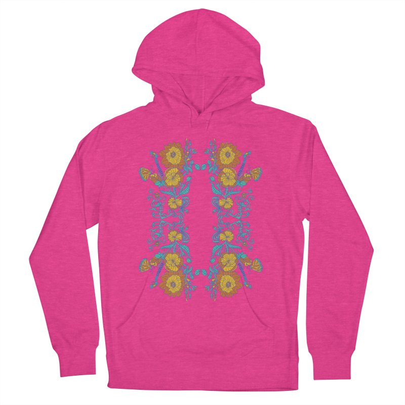 Butterfly Flowers and Bees Women's Pullover Hoody by jandeangelis's Artist Shop