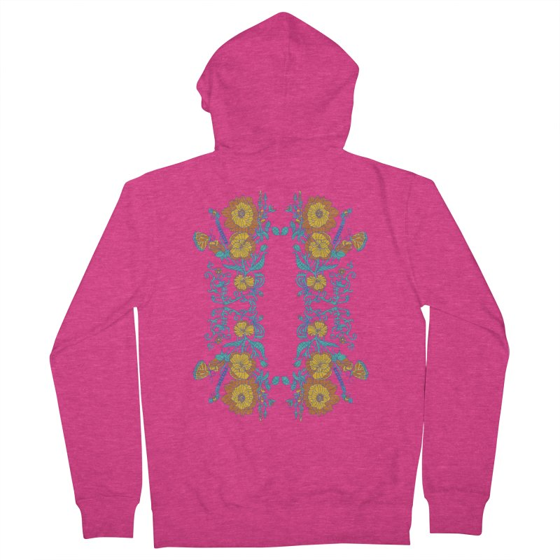 Butterfly Flowers and Bees Women's Zip-Up Hoody by jandeangelis's Artist Shop
