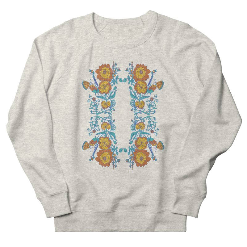 Butterfly Flowers and Bees Women's French Terry Sweatshirt by jandeangelis's Artist Shop