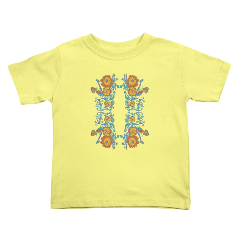 Butterfly Flowers and Bees Kids Toddler T-Shirt by jandeangelis's Artist Shop