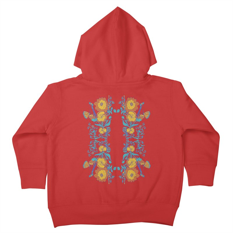 Butterfly Flowers and Bees Kids Toddler Zip-Up Hoody by jandeangelis's Artist Shop