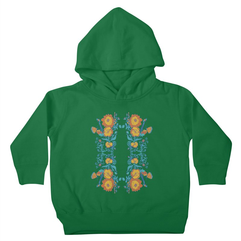 Butterfly Flowers and Bees Kids Toddler Pullover Hoody by jandeangelis's Artist Shop