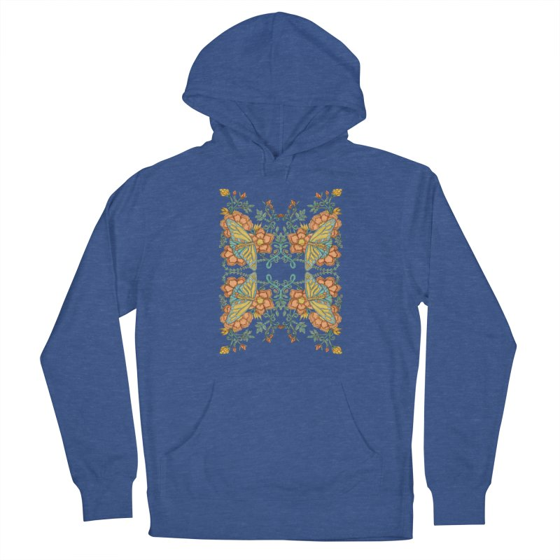 Victorian Butterfly In Summer Women's French Terry Pullover Hoody by jandeangelis's Artist Shop