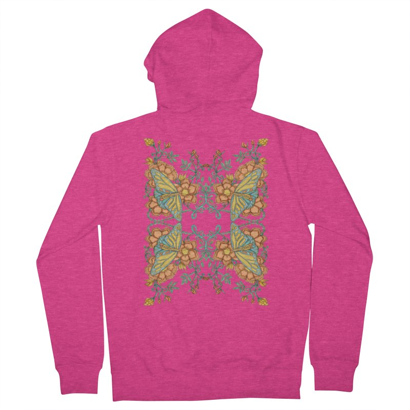 Victorian Butterfly In Summer Women's French Terry Zip-Up Hoody by jandeangelis's Artist Shop