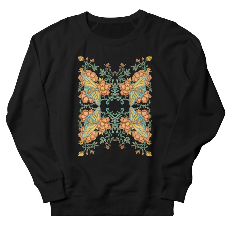 Victorian Butterfly In Summer Women's French Terry Sweatshirt by jandeangelis's Artist Shop