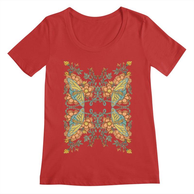 Victorian Butterfly In Summer Women's Regular Scoop Neck by jandeangelis's Artist Shop