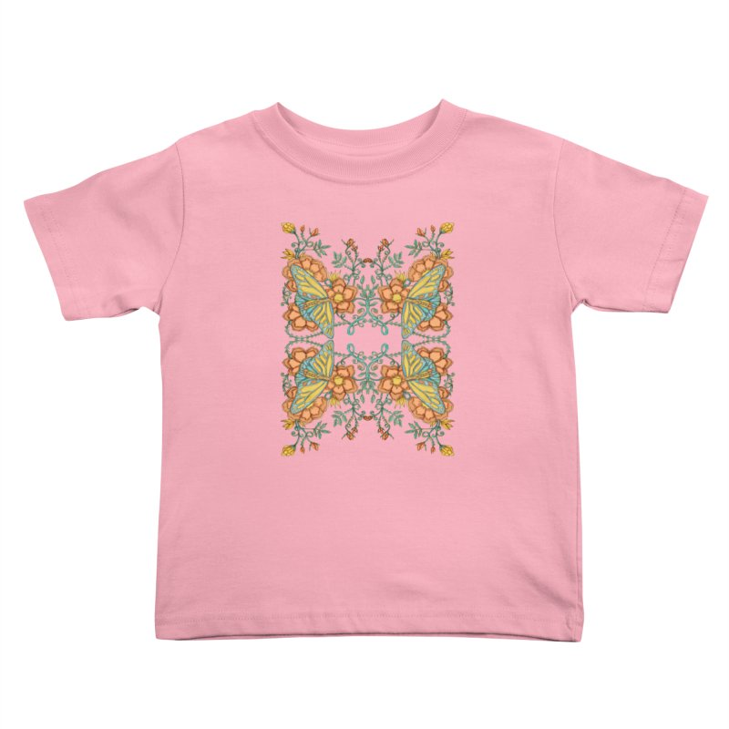 Victorian Butterfly In Summer Kids Toddler T-Shirt by jandeangelis's Artist Shop