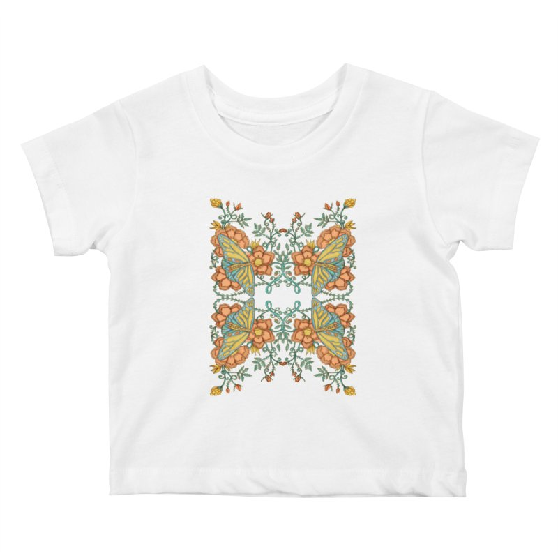 Victorian Butterfly In Summer Kids Baby T-Shirt by jandeangelis's Artist Shop