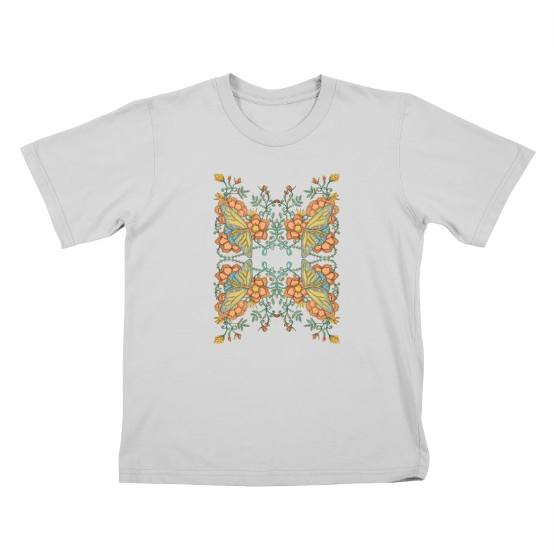 Victorian Butterfly In Summer Kids T-Shirt by jandeangelis's Artist Shop