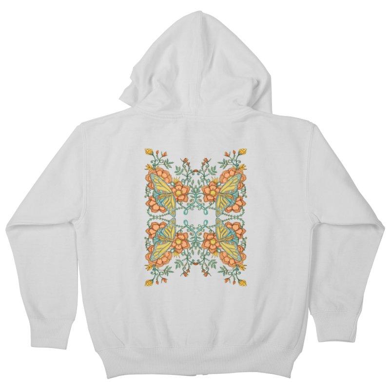 Victorian Butterfly In Summer Kids Zip-Up Hoody by jandeangelis's Artist Shop