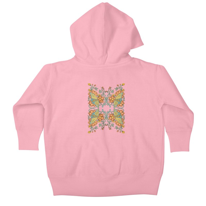 Victorian Butterfly In Summer Kids Baby Zip-Up Hoody by jandeangelis's Artist Shop