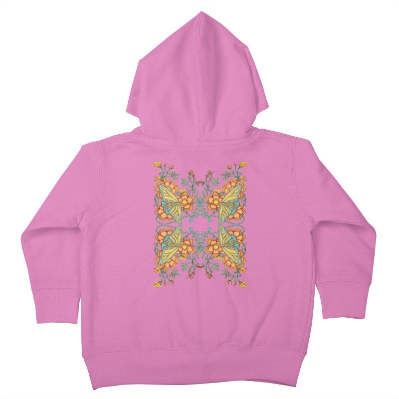 Victorian Butterfly In Summer Kids Toddler Zip-Up Hoody by jandeangelis's Artist Shop