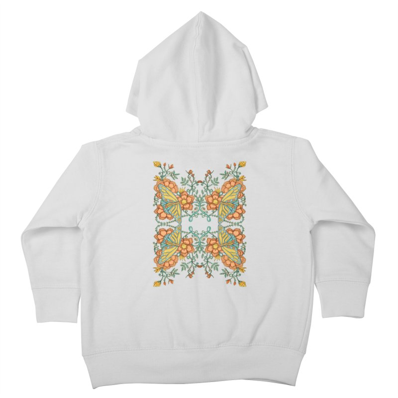 Victorian Butterfly In Summer Kids Toddler Zip-Up Hoody by jandeangelis's Artist Shop