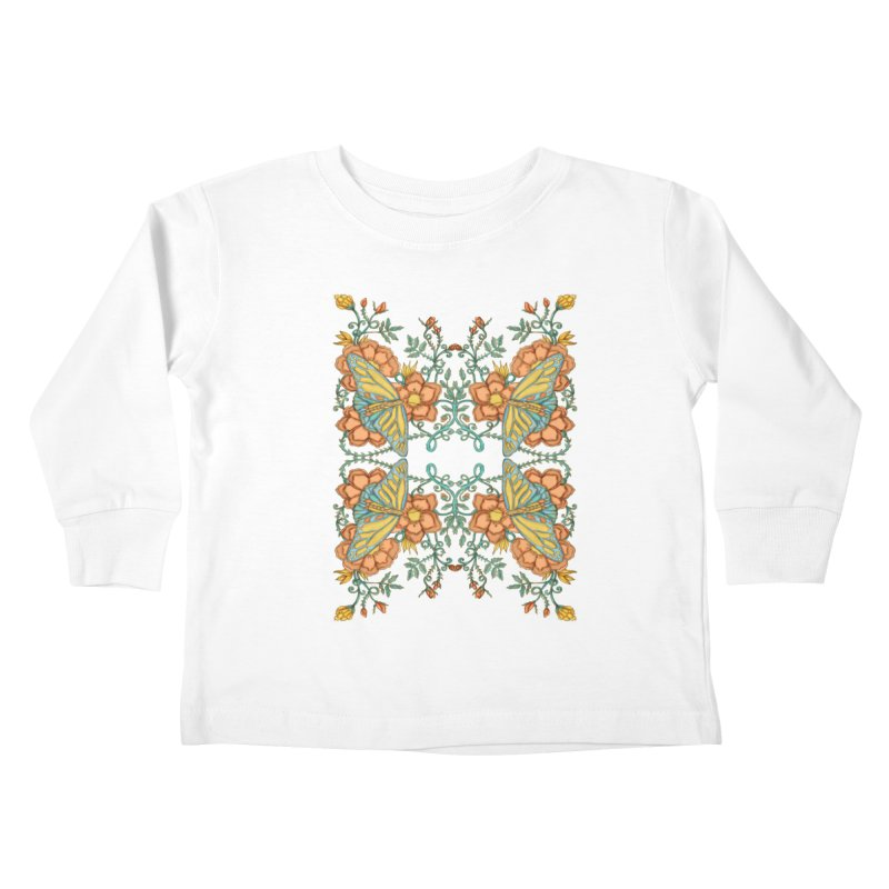 Victorian Butterfly In Summer Kids Toddler Longsleeve T-Shirt by jandeangelis's Artist Shop