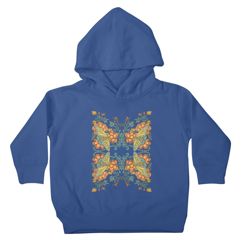Victorian Butterfly In Summer Kids Toddler Pullover Hoody by jandeangelis's Artist Shop