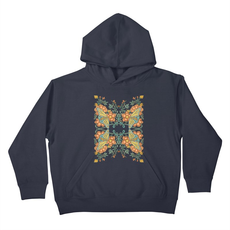 Victorian Butterfly In Summer Kids Pullover Hoody by jandeangelis's Artist Shop