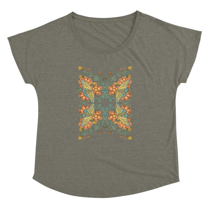 Victorian Butterfly In Summer Women's Dolman Scoop Neck by jandeangelis's Artist Shop