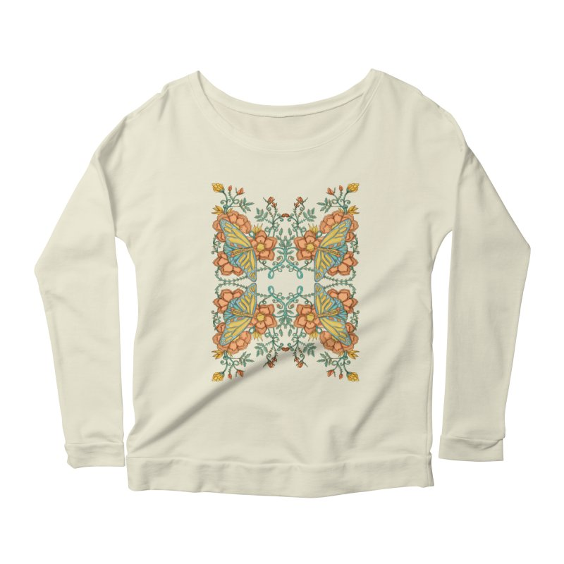 Victorian Butterfly In Summer Women's Scoop Neck Longsleeve T-Shirt by jandeangelis's Artist Shop
