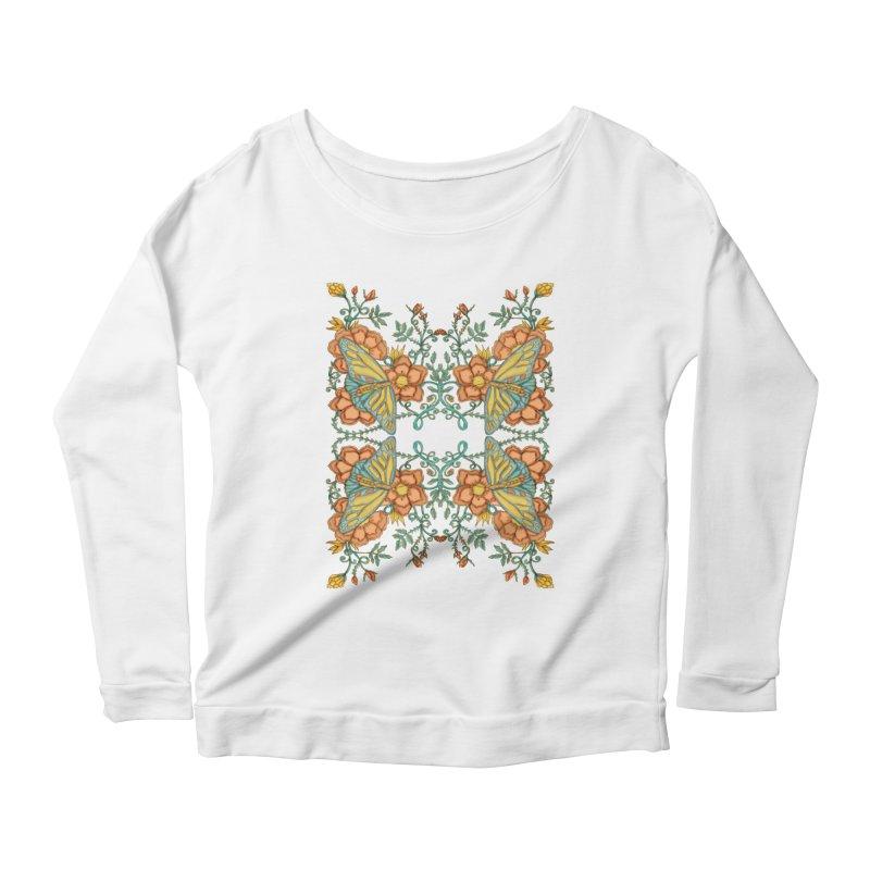 Victorian Butterfly In Summer Women's Scoop Neck Longsleeve T-Shirt by jandeangelis's Artist Shop