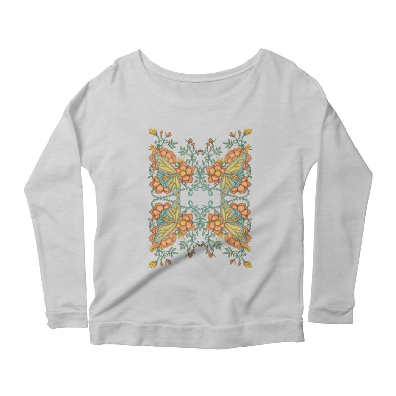 Victorian Butterfly In Summer Women's Longsleeve Scoopneck  by jandeangelis's Artist Shop