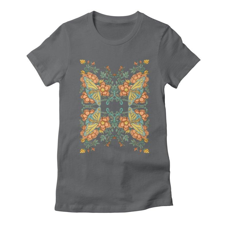 Victorian Butterfly In Summer Women's T-Shirt by jandeangelis's Artist Shop