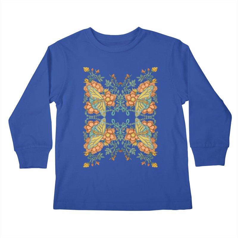 Victorian Butterfly In Summer Kids Longsleeve T-Shirt by jandeangelis's Artist Shop