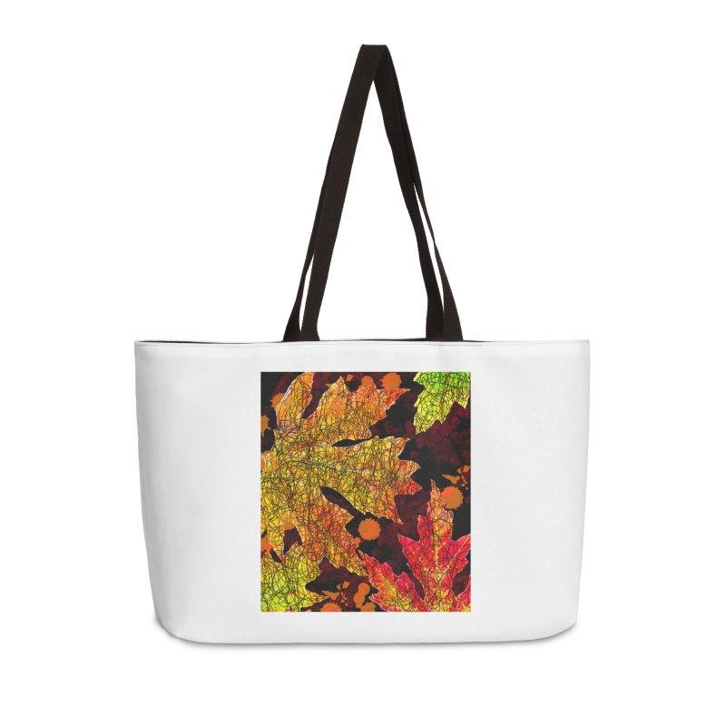 Fall Leaves Accessories Weekender Bag Bag by jandeangelis's Artist Shop