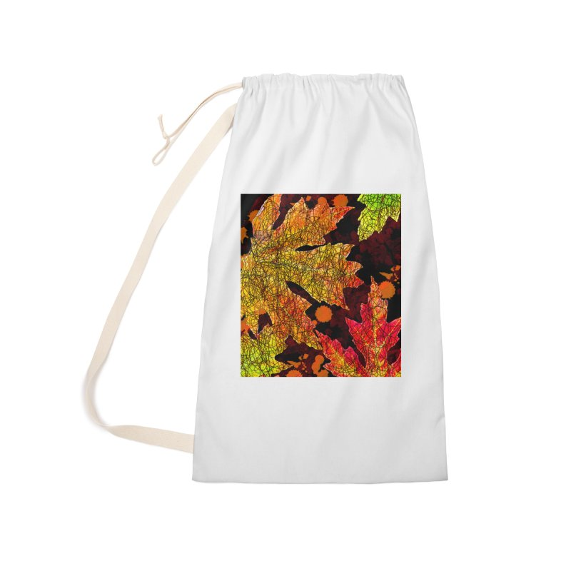 Fall Leaves Accessories Laundry Bag Bag by jandeangelis's Artist Shop
