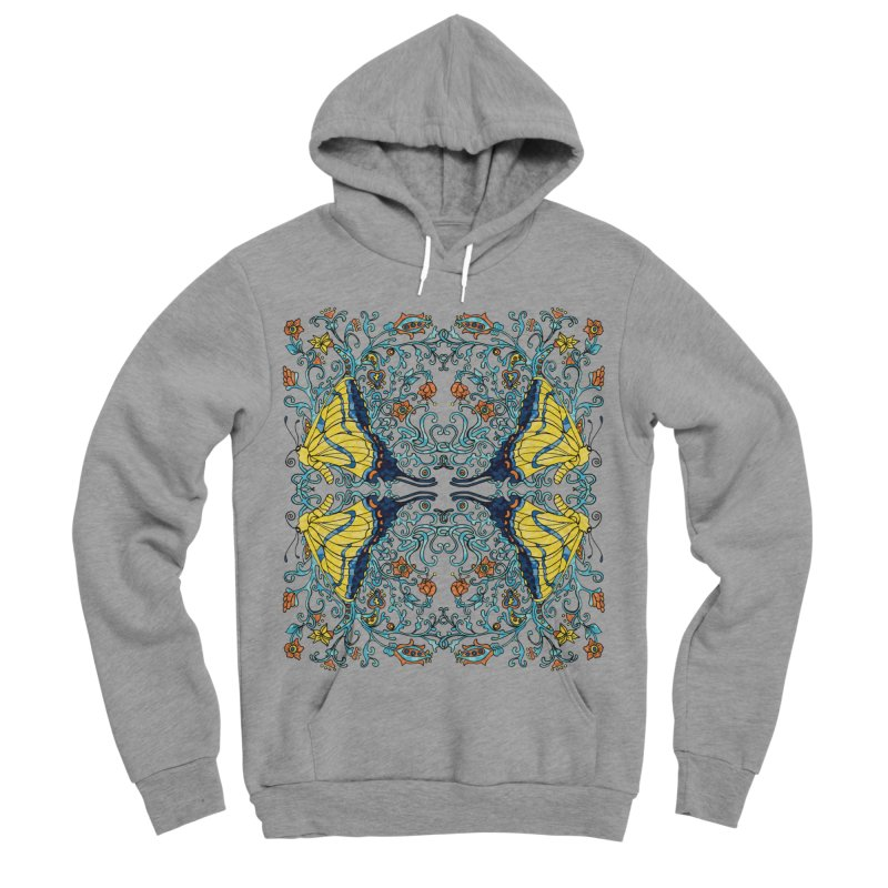 Art nouveau Flowers and Butterflies Women's Sponge Fleece Pullover Hoody by jandeangelis's Artist Shop