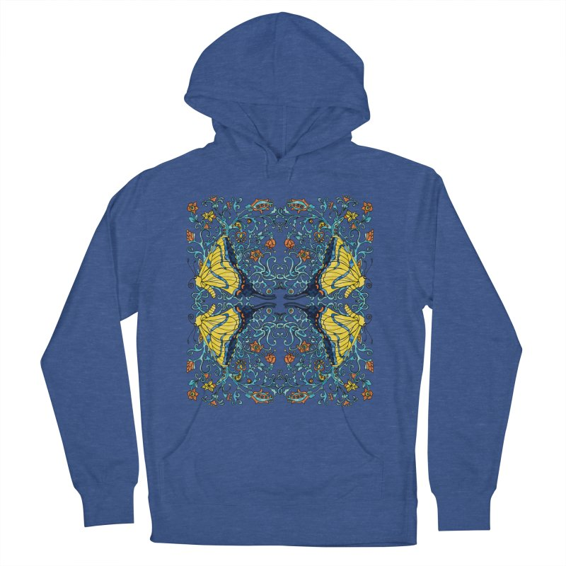 Art nouveau Flowers and Butterflies Women's Pullover Hoody by jandeangelis's Artist Shop