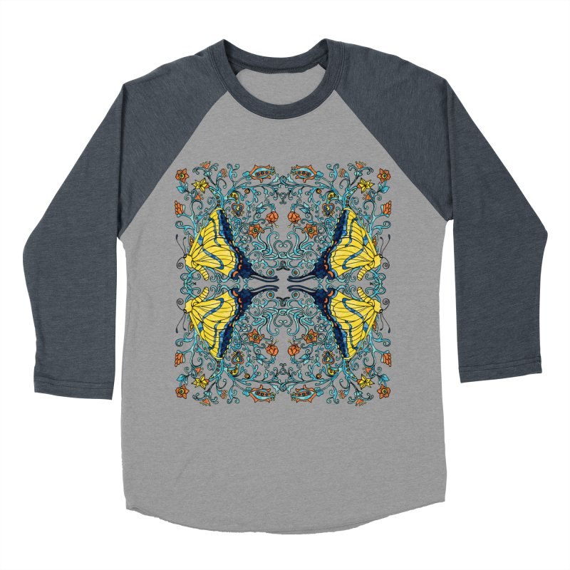 Art nouveau Flowers and Butterflies Women's Longsleeve T-Shirt by jandeangelis's Artist Shop
