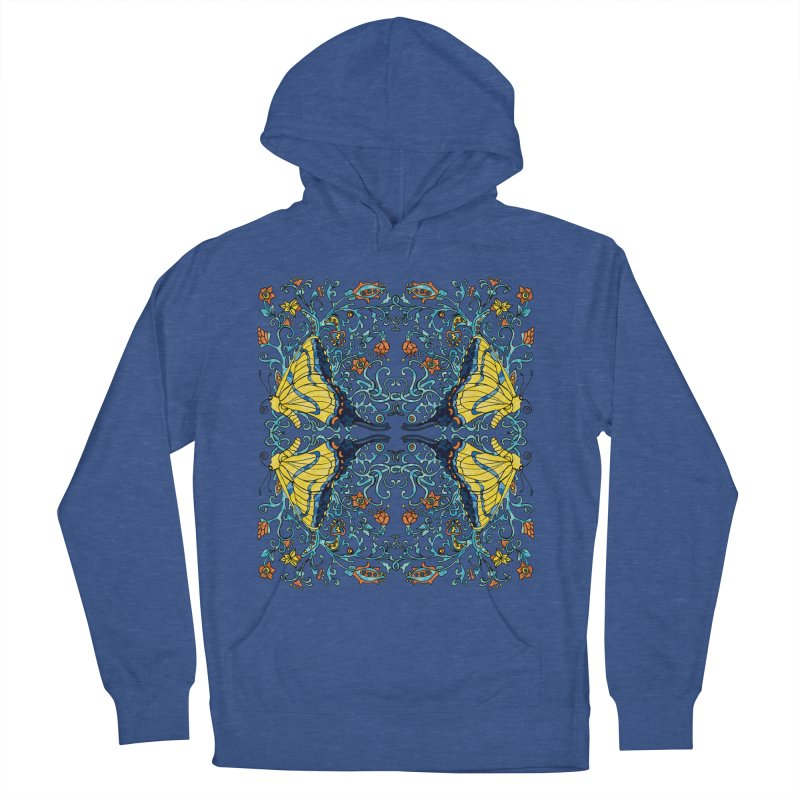 Art nouveau Flowers and Butterflies Women's French Terry Pullover Hoody by jandeangelis's Artist Shop